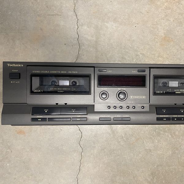 Technics Stereo Double Dual Cassette Tape Deck Player Recorder Playback