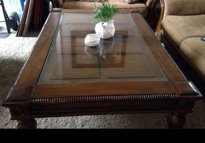 Coffe table 54x40 with glass top for Sale in Fullerton, CA