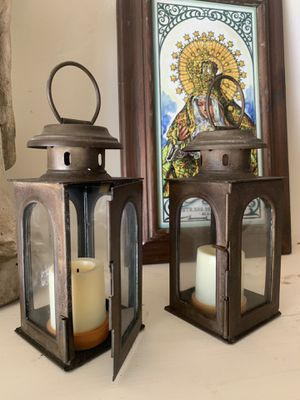 Two antique metal lantern for Sale in Long Beach, CA