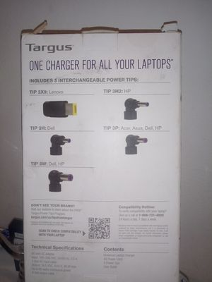 Targus universal laptop charger for Sale in Fontana, CA