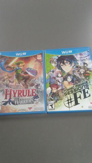 Nintendo Wii U 2-game set (Hyrule Warriors & Tokyo Mirage Sessions) for Sale in Oakland Park, FL