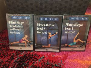 Teaching Pilates Allegro? These will help you! Set of 3 Unopened Instructional DVD's for Sale in Bethesda, MD