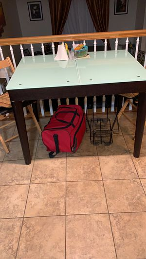 Dining table with glass not chairs. for Sale in Manassas, VA