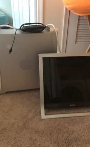 Apple modem, Sony monitor, and keyboard for Sale in Newport News, VA