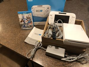 Nintendo Wii U Basic Set 8G White (Madden Game Included) for Sale in Saint Charles, MD
