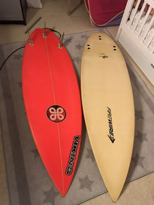 "Surfboard in good shape viking5'10"" & FireWire 5'8"" FireWire had a crack before now it's fixed $300 two boards for Sale in Pompano Beach, FL"