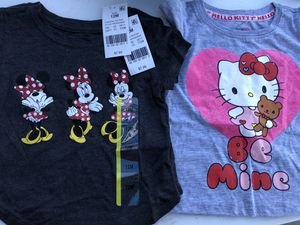 Minnie or hello kitty kids shirts sizes vary 12months,18 months,2T & 3T only $3 each located in Fresno on peach/Kingscanyon for Sale in Fresno, CA