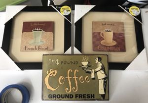 Coffee wall decor / frames / art (3) for Sale in Vancouver, WA
