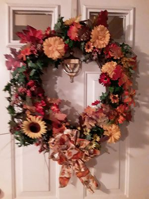 Fall wreaths, air conditioner, flower pot for Sale in Martinsburg, WV