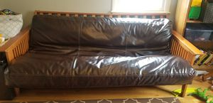 Futon, futon mattress, and futon faux leather cover for Sale in Danvers, MA