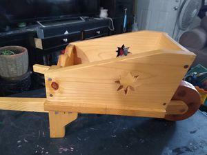 Handmade wooden wheelbarrow plant stand $15 for Sale in Phoenix, AZ