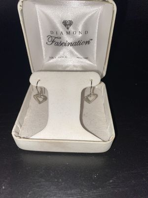 Heart shaped diamond earrings for Sale in Airway Heights, WA