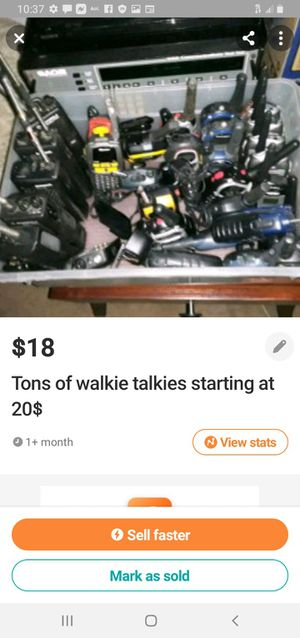 Various sets of walkie talkies starting at 18$ and up for Sale in Talking Rock, GA