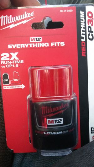 Milwaukee M-12. Red Lithium CP-3.0 for Sale in Los Angeles, CA