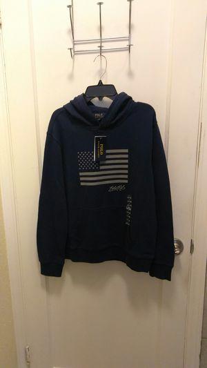 Polo Ralph Lauren sweat jacket size L 14-16 navy blue !!!! for Sale in San Leandro, CA