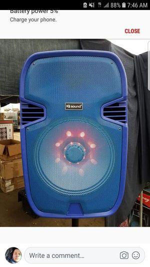 IQ sound 15 in speaker with speaker stand blue for Sale in Norwalk, CA
