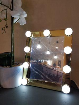 Lighted Makeup Mirror 9 LED Bulb for Sale in Splendora, TX