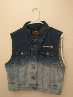 """Harley Davidson"" Demin Motorcycle Vest for Sale in Houston, TX"