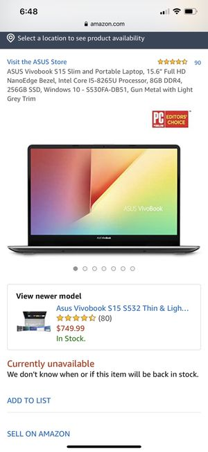 Brand New Asus Vivobook S15 for Sale in Oxon Hill, MD