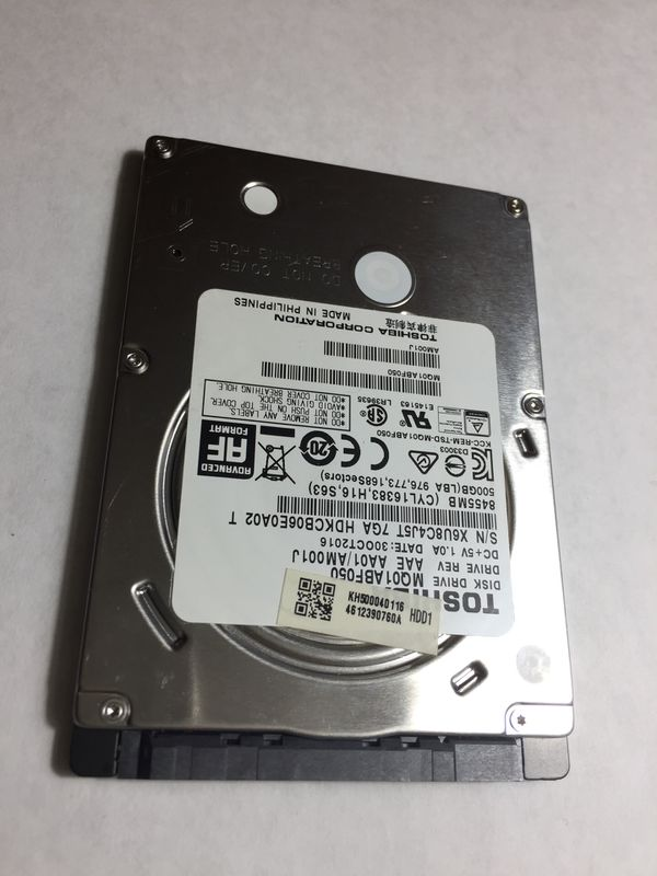 "500GB laptop hard drive Toshiba 2.5"""