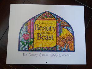 Vintage Disney beauty & the beast 1993 calendar for Sale in Fresno, CA