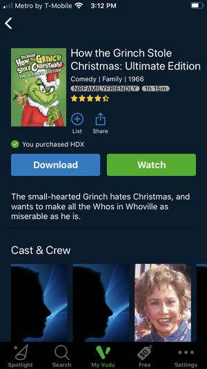 The Grinch who stole Christmas (1966) HDX STREAM for Sale in Fontana, CA