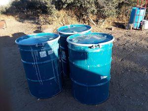 55 gallon metal barrels for Sale in Phelan, CA