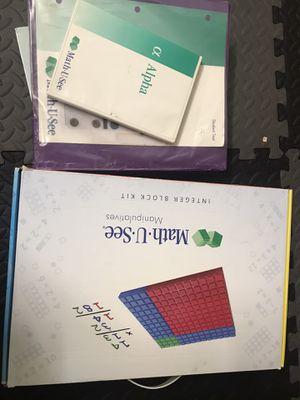 Math . U . See Integer Block Kit and Complete Alpha Set for Sale in Walnut Creek, CA