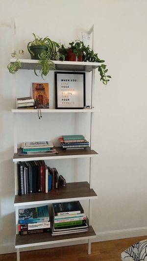 Beautiful white ladder shelf for Sale in Mountain View, CA