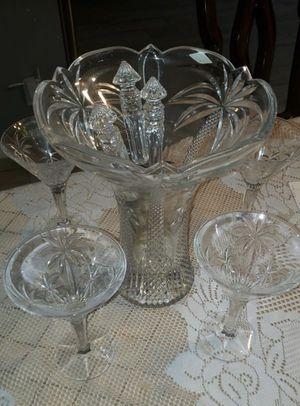 Vintage glassware /punch bowl for Sale in Sunrise, FL