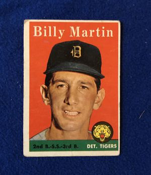 Billy Martin , Detroit Tigers Baseball Trading Card for Sale in San Antonio, TX