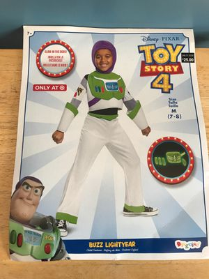 DISNEY TOY STORY4 BUZZ LIGHTYEAR COSTUME GREAT FOR BIRTHDAY OR DRESS UP KIDS SIZE SMALL 4/6 AND 7/8 AVAILABLE for Sale in Rialto, CA