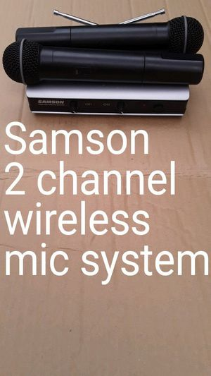Samson dual channel wireless mic system in excellent condition for Sale in Mt. Juliet, TN