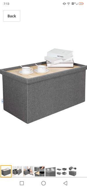 foldable collapsible coffee table storage container for Sale in Boerne, TX