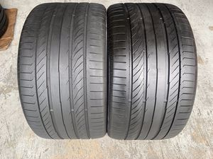 Two tires 315/30/21 Continental Contisportcontact with 70-75% left mint for Sale in Miami, FL
