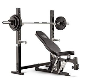 Squat rack and bench with 300lb weight set for Sale in Saint Charles, MO