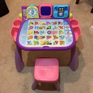 Vtech Touch and Learn Activity Desk Deluxe - kids, girls for Sale in Scottsdale, AZ