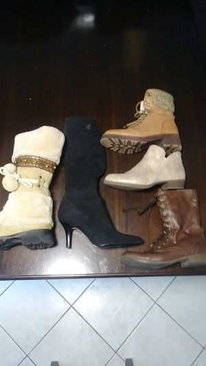 5 pair Womens Boots Fit size 8. Anne Klein and others. for Sale in Bethel Park, PA