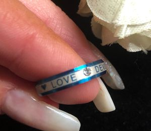Love devotion ring size 7 stainless steel $15 for Sale in Denver, CO