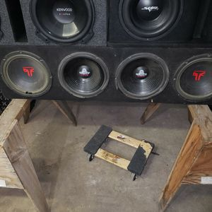 Truck Bed Box, With 4 12's Unknown Speaker Condition for Sale in Glendale, AZ