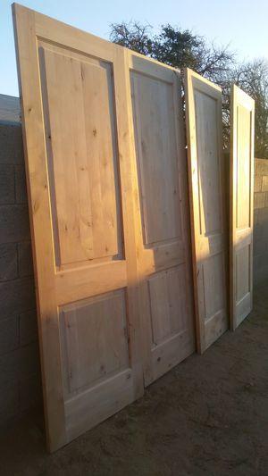 Interior doors exterior doors knotty alder solid wood for Sale in Phoenix, AZ