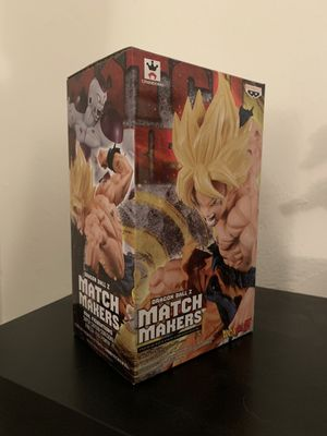Super Saiyan Son Goku Statue | Banpresto | Match Makers | Dragonball Z for Sale in Golden Beach, FL