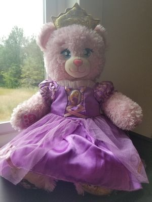 Build-a-bear Disney pink princess bear for Sale in Spanaway, WA