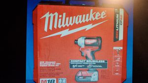 MILWAUKEE M18 Brushless Impact Driver Kit for Sale in Modesto, CA
