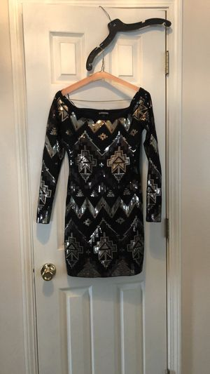 Black Sequin Dress (Long Sleeve) for Sale in Mary Esther, FL