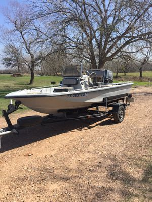 1995 Blue wave 165 super tunnel. With 1985 Suzuki motor for Sale in Cuero, TX
