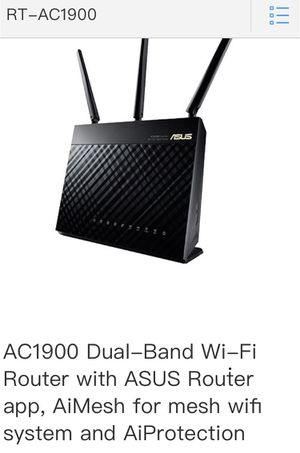 ASUS AC 1900 Dual-band WiFi Gigabit Router for Sale in Chicago, IL