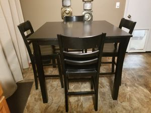 IKEA DARK BROWN TABLE AND CHAIRS for Sale in Vancouver, WA