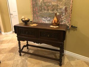 Antique Buffet-Drop leaf. for Sale in Beaumont, CA