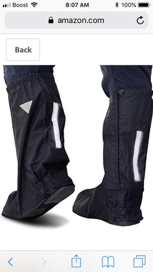 Motorup America Waterproof Motorcycle Rain Boots with Reflective Safety Strips - for Sale in Alexandria, VA
